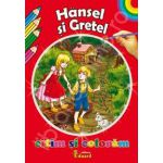 Hansel si Gretel. Citim si coloram