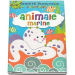 Uneste punctele si coloreaza - Animale marine