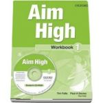 Curs de limba engleza Aim High 1 Wookbook and CD-Rom - Tim Falla