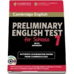 Cambridge Preliminary English Test for Schools 1 Self-study Pack (Student's Book with Answers with Audio CD) - Official Examination Papers from University of Cambridge ESOL Examinations