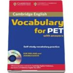 Cambridge Vocabulary for PET Student Book with Answers and Audio CD - Sue Ireland