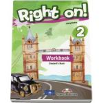 Right on! 2 Workbook with Digibook app. Caiet de limba engleza - Level A2