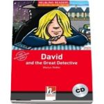 David and the Great Detective with Audio CD, level 1