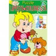 Puzzle - Lipeste si coloreaza 4