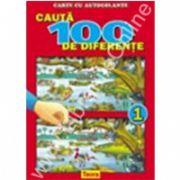 Cauta 100 de diferente 1, carte color cu autocolante