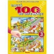 Cauta 100 de diferente 3, carte color cu autocolante