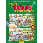 Cauta 100 de diferente 4, carte color cu autocolante