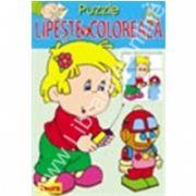 Puzzle - Lipeste si coloreaza 2
