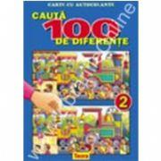 Cauta 100 de diferente 2, carte color cu autocolante