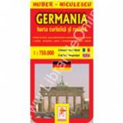 Harta Germaniei - turistica si rutiera