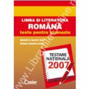 LIMBA ŞI LITERATURA ROMÂNĂ teste pentru gimnaziu