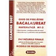 Bacalaureat la Matematica 2007 M1-2. Enunturi si Modele de rezolvari