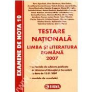TESTARE NATIONALA LIMBA SI LITERATURA ROMANA 2007