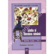 Limba si literatura romana pentru clasa a VIII-a. Evaluare curenta