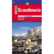Hartă rutieră Scandinavia