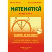 Matematica. Exercitii si probleme. Clasa a XI-a (Elemente de algebra liniara, elemente de analiza matematica)