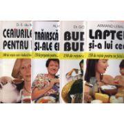 Pachet promotional 4 carti - Ceaiurile mele pentru inimă-300 de reţete, Trăiască fasolea şi-ale ei surat-150 de preparate, Budinci, budinci / 150 de reţete, Laptele şi-a lui ceată / 150 de reţete