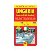 Ungaria. Harta turistica si rutiera