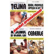 PACHET PROMOTIONAL 4 CARTI- TELINA-MIERE,PROPOLIS LAPTISOR DE MATCA-MASLINUL SI ULEIUL LUI-CEREALE