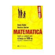 Teze cu subiect unic 2008-2009. Matematica clasa a VIII-a semestru I si semestru al II-lea