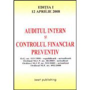 Auditul intern si controlul financiar preventiv. Editia I