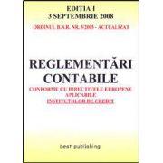 Reglementari contabile conforme cu directivele europene aplicabile institutiilor de credit. Editia I
