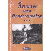 Alte marturii despre Parintele Arsenie Boca
