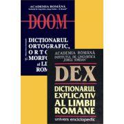 Pachet promotional: DEX - Dictionarul explicativ al limbii romane - DOOM. Dictionarul ortografic, ortoepic si morfologic al limbii romane