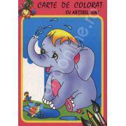 Elefantelul. Carte de colorat cu abtibilduri