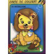 Leul. Carte de colorat cu abtibilduri