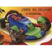Masina. Carte de colorat cu abtibilduri