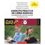 Exercitii practice de limba romana. Competenta si performanta in comunicare clasa a V-a