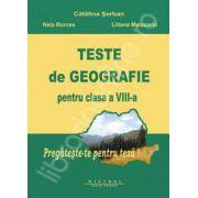 Teste de geografie pentru clasa a VIII-a