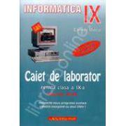 INFORMATICA. Caiet de laborator pentru clasa a IX-a (profil real)