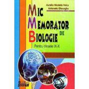 Mic memorator de Biologie clasele IX-X