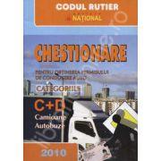 Chestionare categoriile C+D, Camioane, Autobuze