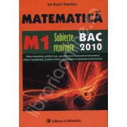 Bac 2010 M1 matematica - Subiecte rezolvate