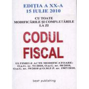 Codul Fiscal cu modificarile si completarile pana la 15 Iulie 2010