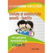 Unitate si continuitate scoala-familie cls a II-a (Agenda scolarului)
