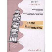Teme de matematica clasa a VIII-a, Semestrul I (2010-2011)