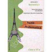 Teme de matematica clasa a VI-a, Semestrul I (2010-2011)