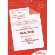 Bacalaureat biologie 2011 clasele XI-XII. Sinteze teste si rezolvari