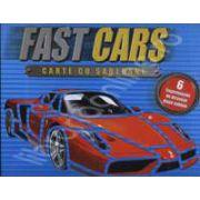 Fast Cars - carte cu sabloane (6 supermasini de desenat dupa sablon)