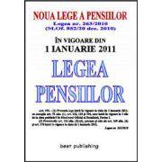 LEGEA PENSIILOR 2011 - in vigoare din 1 ianuarie 2011