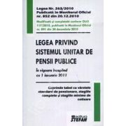 Legea privind sistemul unitar de pensii publice (In vigoare incepand cu 1 ianuarie 2011)