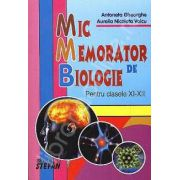 Mic memorator de biologie clasele XI-XII