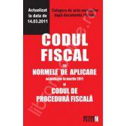 Codul fiscal cu Normele de aplicare si Codul de procedura fiscala - Actualizat la 14.03.2011