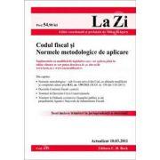 Codul fiscal si Normele metodologice de aplicare. Actualizat 10.03.2011