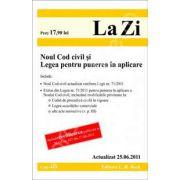 Noul Cod civil si Legea pentru punerea in aplicare. Actualizat la 25.06.2011 (Cod 443)