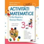 Activitati matematice cu Rita Gargarita si Greierasul Albastru. Caiet pentru grupa mica 3-4 ani